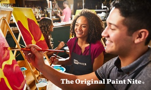 Paint & Sip with Friends & Family at Yaymaker (Up to 24% Off)  at The Original Paint Nite, plus 6.0% Cash Back from Ebates.