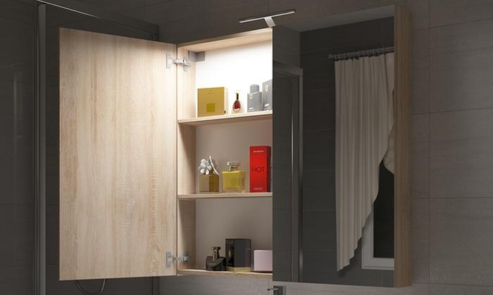 Specchiera contenitore con LED | Groupon Goods