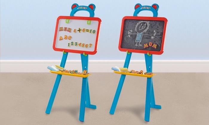 tableau double face pour enfant avec accessoires groupon. Black Bedroom Furniture Sets. Home Design Ideas