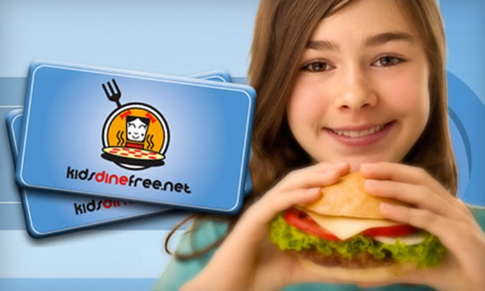 KidsDineFree.net: One or Two Groupons, Each Good for a 90-Day Kids Dine Free Card from KidsDineFree.net (Half Off)