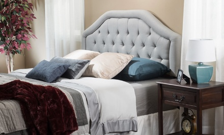 Celina Diamond-Tufted Upholstered Headboard
