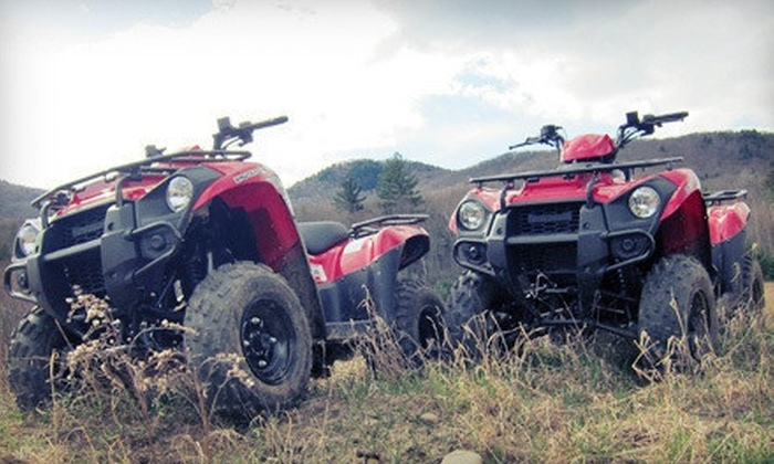DirtVentures ATV Rentals - Rogers Farm: 60- or 90-Minute Guided Mountain Tour for Two on Two ATVs at DirtVentures ATV Rentals (Half Off)