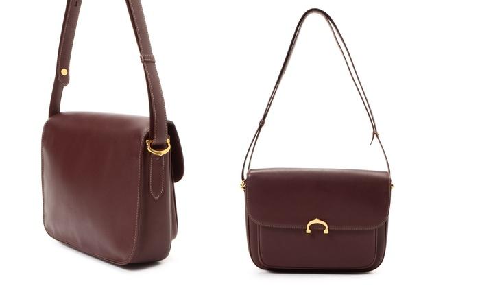 Cartier Vintage Leather Shoulder Bag Or Crossbody