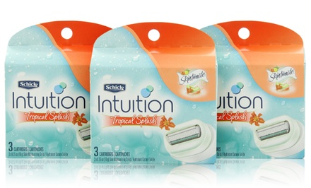 9-Count of Schick Intuition Tropical Splash Women's Razor Cartridges