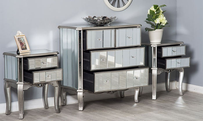 Mirrored Bedroom Furniture Set Groupon