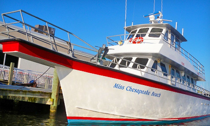 Miss Chesapeake Beach - Breezy Point Marina: Fishing Trip for One or Two Aboard the Miss Chesapeake Beach (Up to 54% Off)