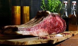 Beef Bull Club: Dry Aged Beef Tome Hawk oder T-Bone 500 g inkl. 2 Beilagen und Nachspeise für Zwei oder Vier im Beef Bull Club ab 45 €