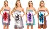 Women's Strapless Floral-Print Dress: Women's Strapless Floral-Print Dress