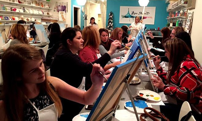 Mini Monet Inc. - Mini Monet: Painting Night for One, Two, or Four Adults at Mini Monet (Up to 53% Off)