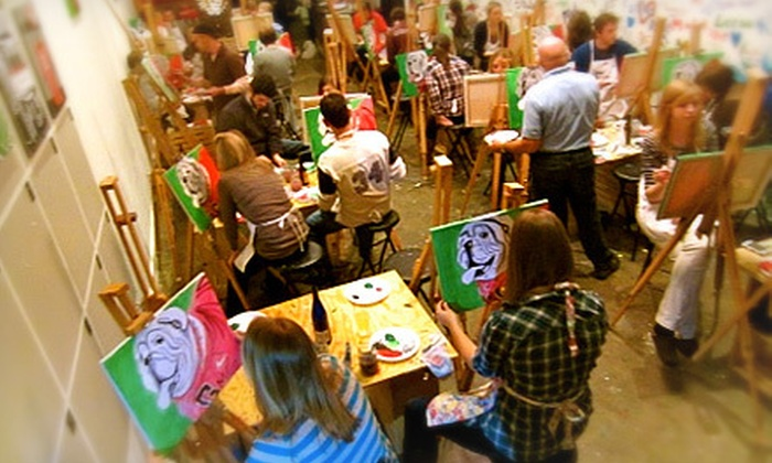 Pints and Paints - Athens-Clarke County unified government (balance): Painting Session for One, Two, or Four at Pints and Paints (Up to 58% Off)