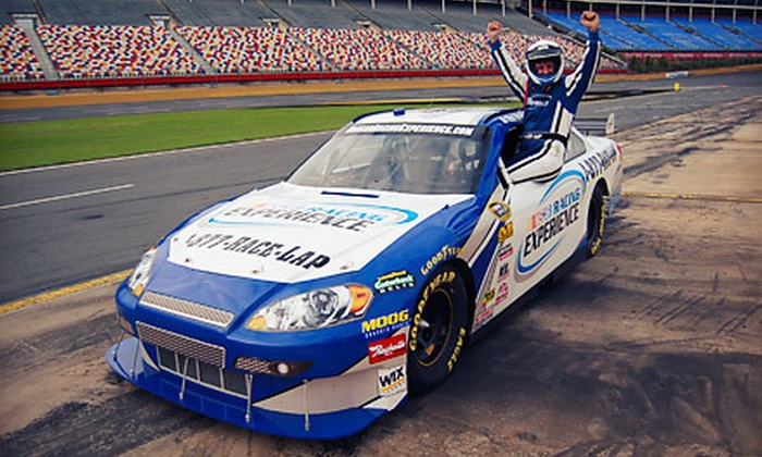 Nascar racing experience main account in fontana ca groupon for Charlotte motor speedway nascar experience