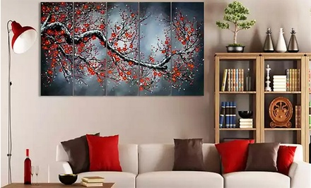 Hand-Painted and Textured Oil Paintings of Nature on Gallery-Wrapped Canvas