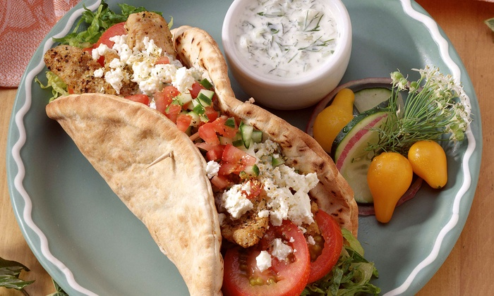 Midtown Grill - Middle Village: Three Sandwich Combo Meals or $10 for $20 Worth of Greek American Food at Midtown Grill