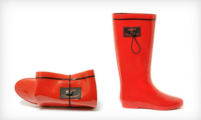 Redfoot Foldable Rain Boots: $34 for Redfoot Folding Wellington Boots in Red Patent ($99 List Price). Six Sizes Available.