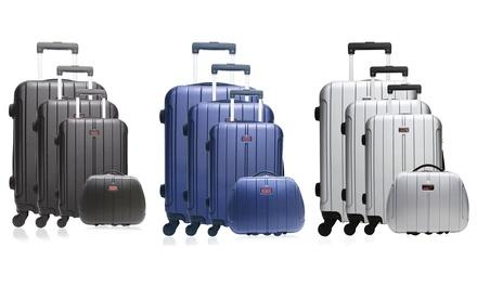 c3b49ddb203a75 Set de 3 valises en ABS Luton avec vanity case Tarente de la marque ...