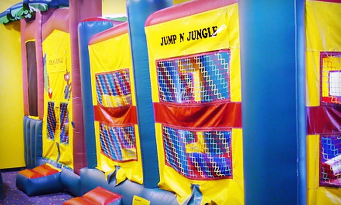 Jump N Jungle - Multiple Locations: 5 or 10 Open Bounce Sessions or $45 for $100 Toward a Birthday Party at Jump N Jungle