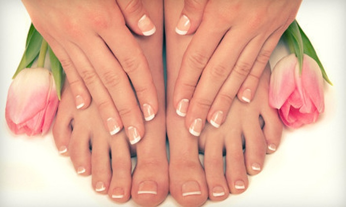 Serenity Salon and Day Spa - Webster: One or Two Signature Mani-Pedis and Sugar Scrubs at Serenity Salon and Day Spa (Up to 55% Off)