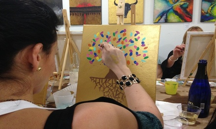 Byob Painting Class Trazos Art Academy Groupon