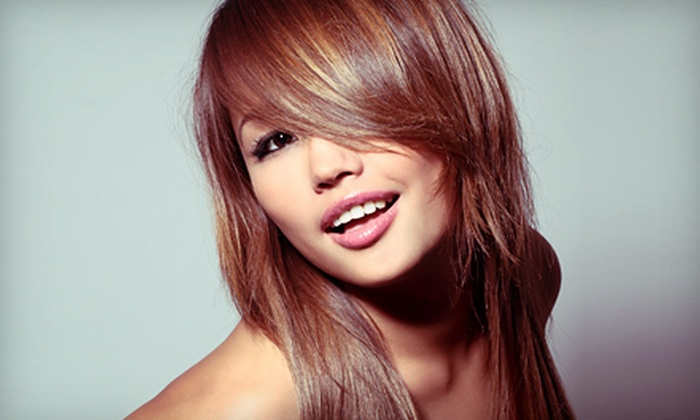 Serenity Salon & Spa - Brookdale: Haircut Package with Deep Conditioning and Optional Glaze or Highlights at Serenity Salon & Spa (Up to 64% Off)