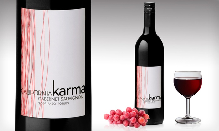 California Karma 2009 Cabernet Sauvignon: $55.99 for a Six-Pack of California Karma 2009 Cabernet Sauvignon with Shipping Included ($65.64 List Price)