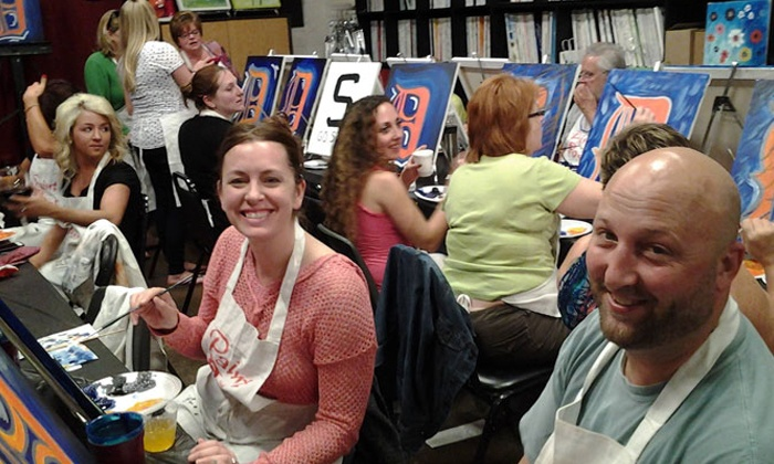 Paint and Pour - Studio West: $19.99 for Two-Hour BYOB Painting Class for One at Paint and Pour Brighton ($35 Value)