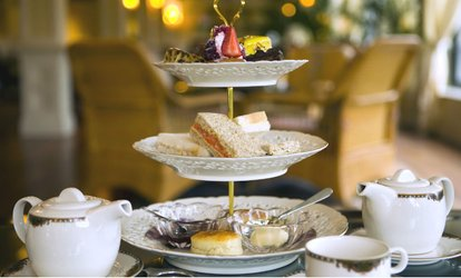image for Traditional or Prosecco Afternoon Tea for Up to Four at Stratton House Hotel (Up to 40% Off)