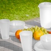 Frosted-Plastic 13-Piece Picnic Set