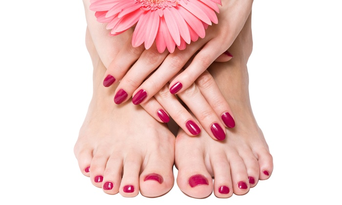 Edelweiss Nail Salon - Wilmette: No-Chip Manicure,  Vinyl Lux Manicure with Pedicure, or Spa Mani-Pedi at Edelweiss Nail Salon (Up to 54% Off)