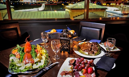 Steak and Seafood Meal for Two or Sunday Brunch Buffet at The Travelers Club (Up to 58% Off)
