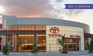 West Kendall Toyota: Synthetic or Nonsynthetic Oil Change Plus Tire Rotation at West Kendall Toyota (Up to 51% Off)