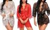 Kimono en dentelle transparente pour femme, coloris et taille au choix