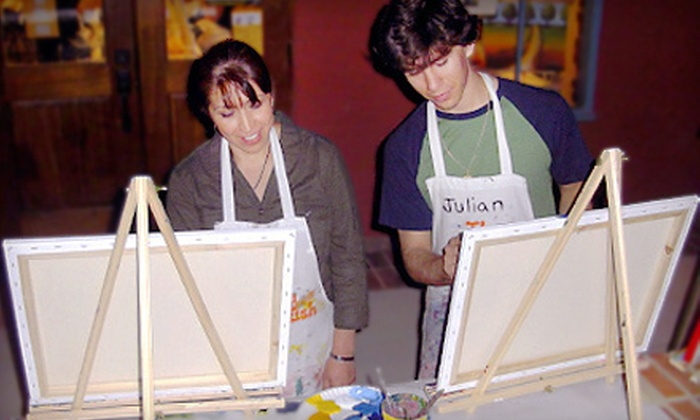The Funky Paintbrush - Downtown Woodstock: $15 Worth of BYOB Painting Classes