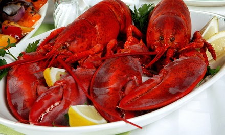 4, 6, or 10 Live Lobsters or a Live-Lobster Dinner for Four or Six from GetMaineLobster.com (Up to 57% Off)
