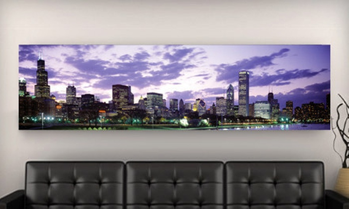 Imagekind Skyline Gallery-Wrapped Canvas: $99 for an Imagekind City Skyline Gallery-Wrapped Canvas Print ($399 List Price). 10 Prints Available. Shipping Included.