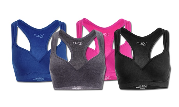 Women's Racerback Push-Up Sports Bras (4-Pack)