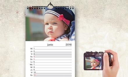 1, 2 ou 5 calendários de parede personalizados desde 3,95€