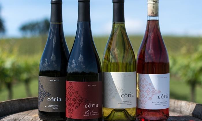 Coria Estates - Salem: Up to 50% Off Flight,Wine,Cheese Plate at Coria Estates