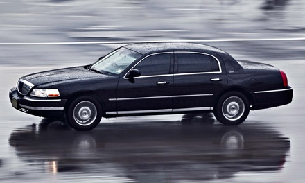 Roundtrip Airport Transportation in a Sedan or a Van or SUV from Border Limousine Service (Up to 48% Off)