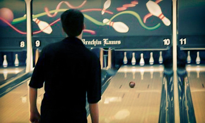 Brechin Lanes - Nanaimo: Two Hours of Bowling for 5 or 10 with Shoe Rental and Food at Brechin Lanes (Up to 68% Off)