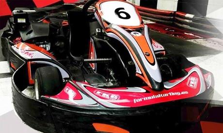 Supertanda con 2 tandas de karts con bebida para 2, 4 u 8 personas desde 26,95 € en Fórmula Karting Granada