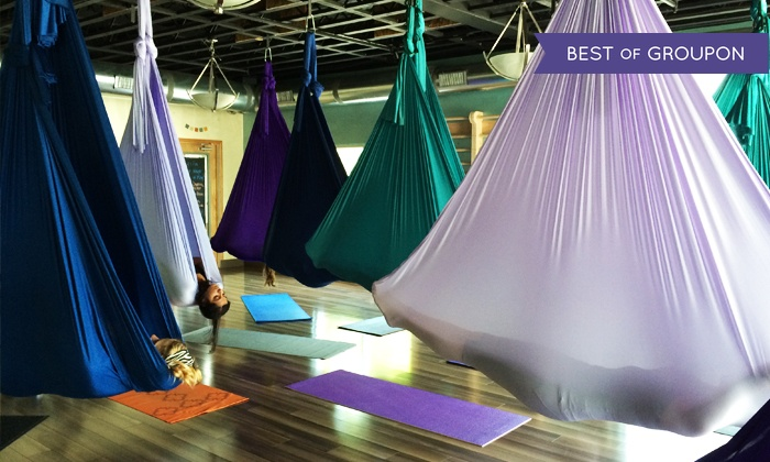 Figure Yoga - Louisville: 5 or 10 Silks Aerial Yoga Classes, or 1 Month of Unlimited Yoga Classes at Figure Yoga (Up to 64% Off)