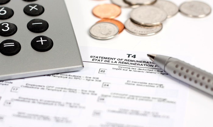 Accounts In Line Inc - Vaughan: Income-Tax-Return Preparation for a Single Filer or Married Couple at Accounts in Line Inc (Up to 63% Off)