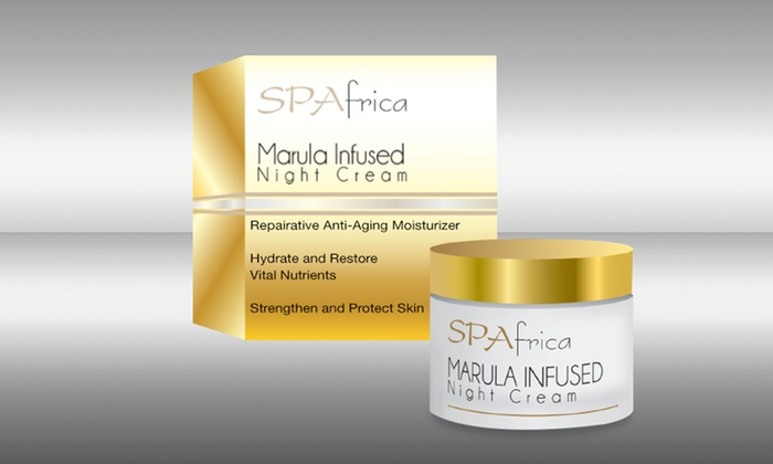 SPAfrica Marula-Infused Night Cream: SPAfrica Marula-Infused Night Cream; 1 Oz. Free Shipping.
