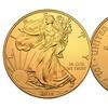 2016 American Eagle Silver Dollar Coin in 24K Gold