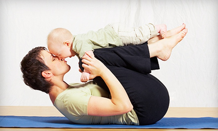 Barefoot Movement - Downtown: 30 Days of Unlimited Postnatal and Mom-and-Baby Yoga Classes at Barefoot Movement (Half Off)