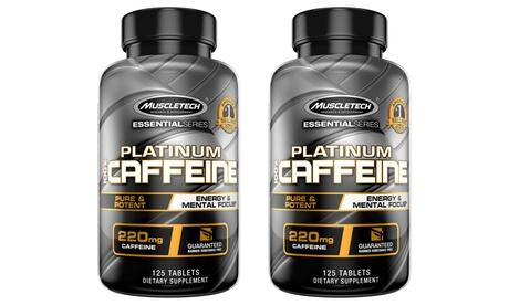 MuscleTech Energy & Focus Platinum 100% Caffeine Pill (1 or 2 pack)