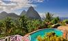 St. Lucia Resort Overlooking the Caribbean Sea