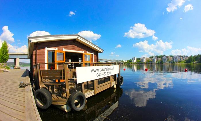 Saunalautta: Saunalautta M/S Löyly vuokralle kahdeksi tunniksi vain 129€ (arvo 420€)