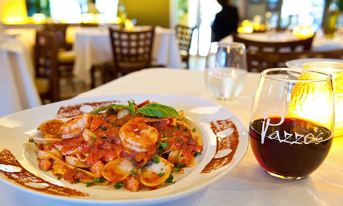 Pazzo's Cucina @ 101 - The Loop: Italian Meal with Wine for Two or Four at Pazzo's Cucina @ 101 (Up to 39% Off). Groupon Reservation Required.