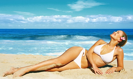 One or Three Months of Unlimited UV Tanning or $12 for $35 Worth of UV Tanning Packages and Products at Tiki Tanning